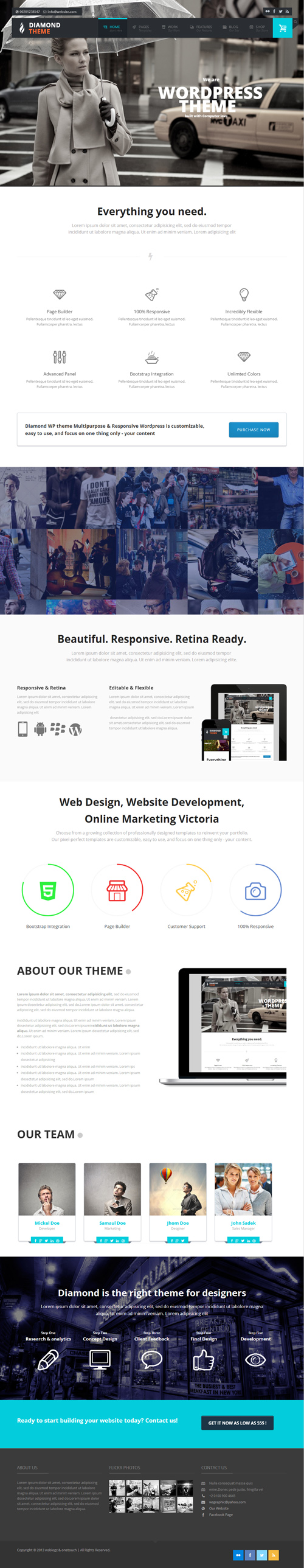 Diamond - Responsive Multi-Purpose Theme