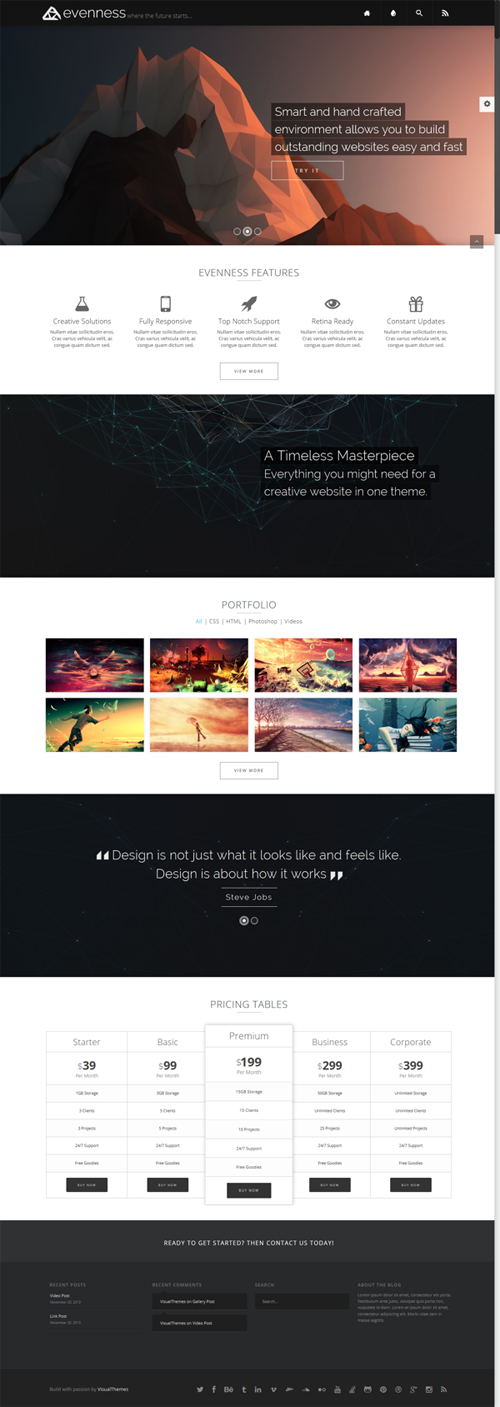 Evenness - Responsive Multi-Purpose Theme