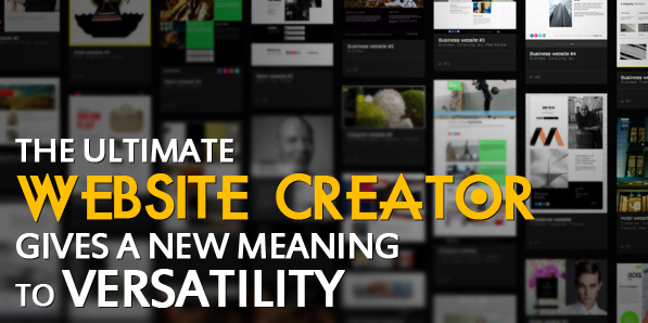 The ultimate website creator gives a new meaning to versatility