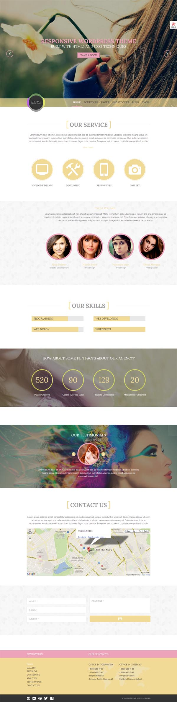 Blume - Responsive WordPress Theme