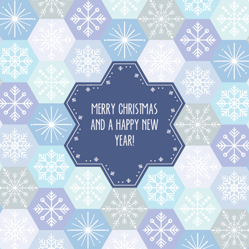 Snowflake Pattern Card Vector Graphic