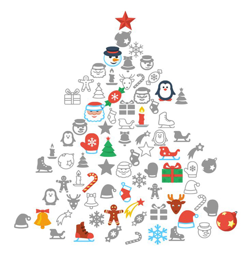 Flat Christmas: Free Icon Packs for all Platforms