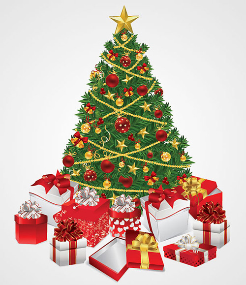 Cristmas Tree With Gifts