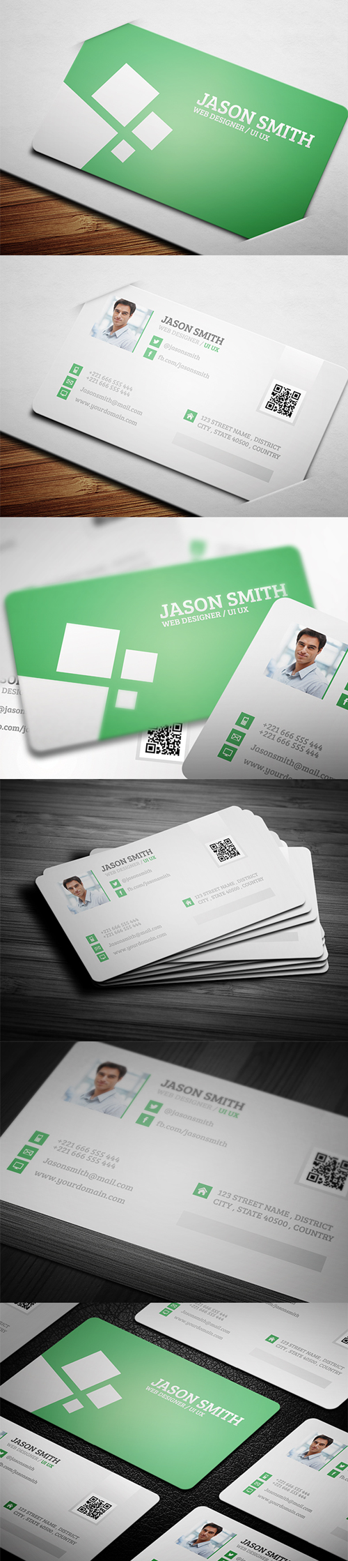 business cards template design - 5