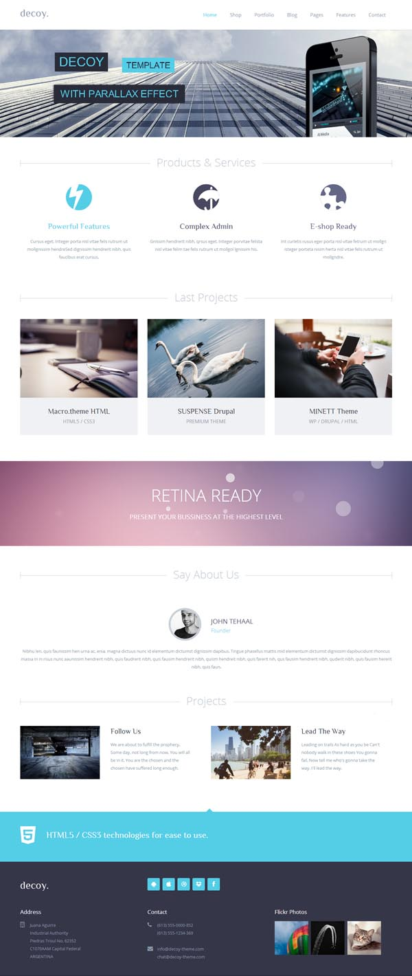 decoy multipurpose HTML5 template