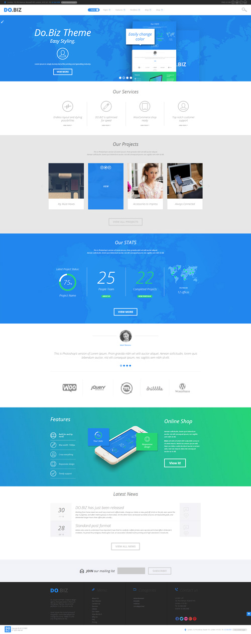 DO.BIZ - Business and Portfolio Theme