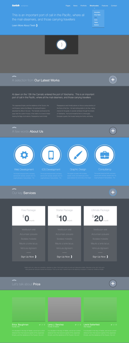 Free Flat Psd Templates And Web Elements For Ui Design Freebies