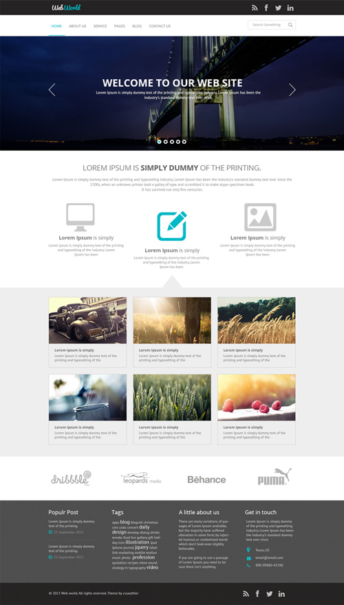 website psd templates free