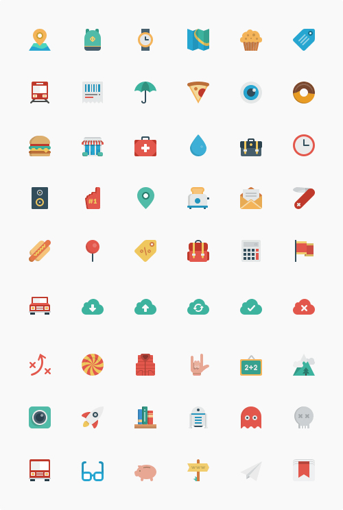 Smallicons Icon Set (54 Icons, SVG, PNG, PSD)