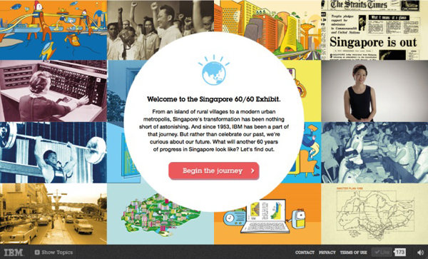 IBM SG 60/60 Exhibit Flat Website Design