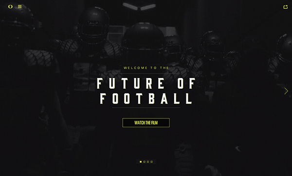 Oregon Gridiron Flat Website Design