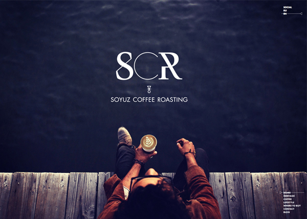 Soyuz Coffee Roasting Flat Website Design