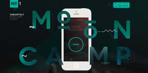 MoonCamp Flat Website Design