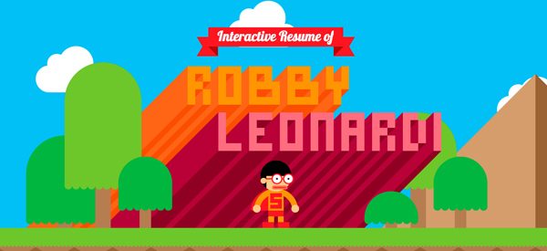Robby Leonardi Flat Website Design