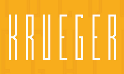 Krueger free fonts of year 2013