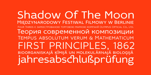 Idealist Sans free fonts of year 2013