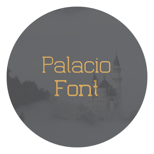 Palacio free fonts of year 2013