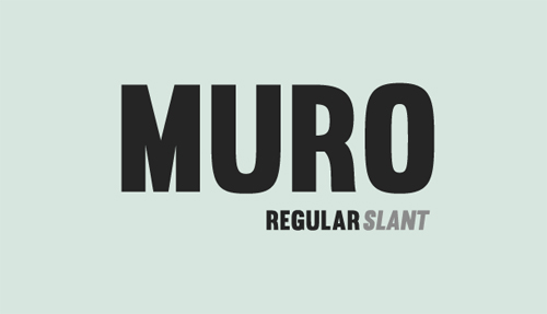 Muro free fonts of year 2013