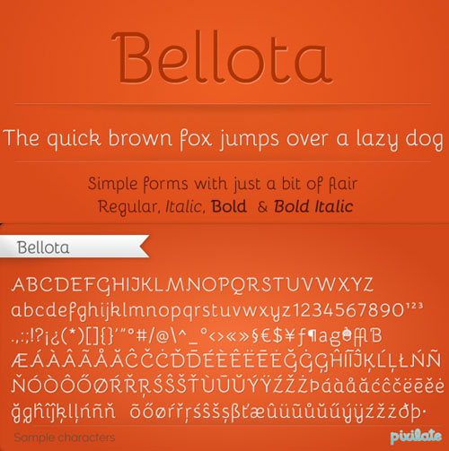 Bellota free fonts of year 2013