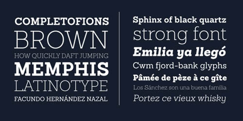 Sanchez Slab free fonts of year 2013