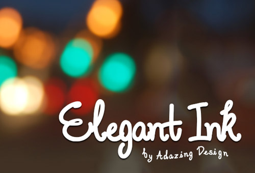 Elegant Ink free fonts of year 2013