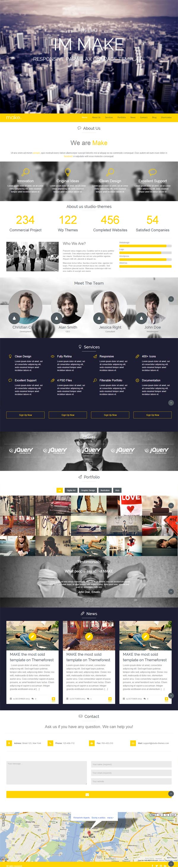 Make - Responsive Parallax One Page WordPress Theme