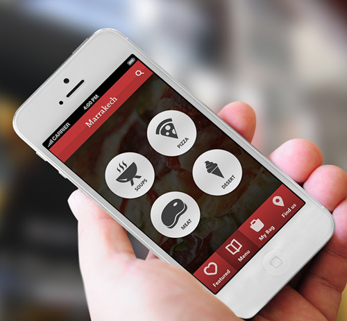 marrakech phone restaurant mobile app ui ux design for inspiration - App Design Ideas