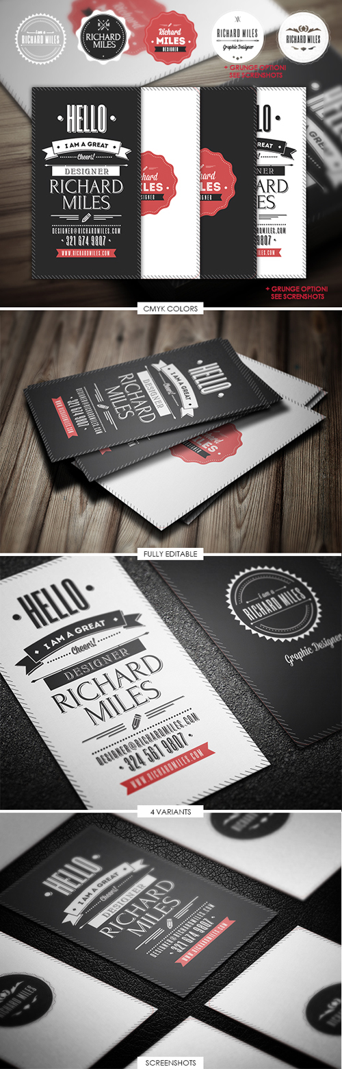 Retro Invitation Business Cards Design-10