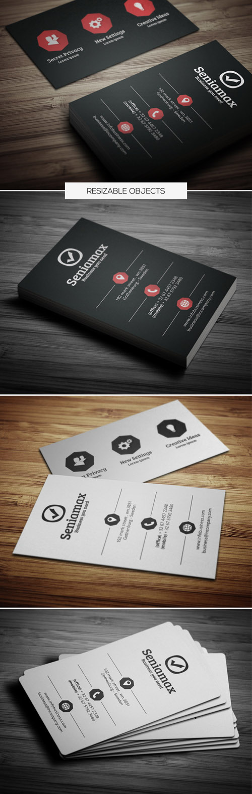 Stylish Business Cards Design-17