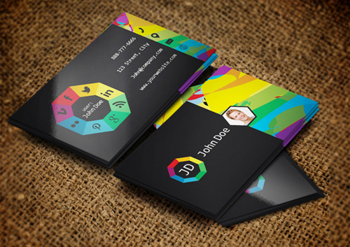 Social websites Business Cards Design-22