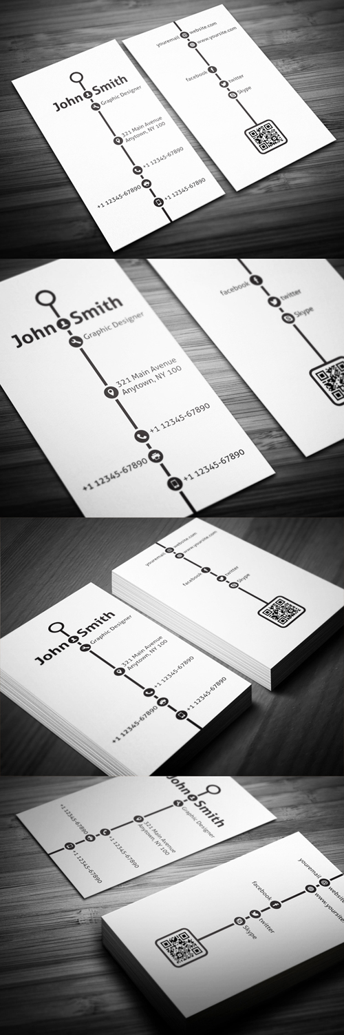 Creative Timeline Business Cards Design-23