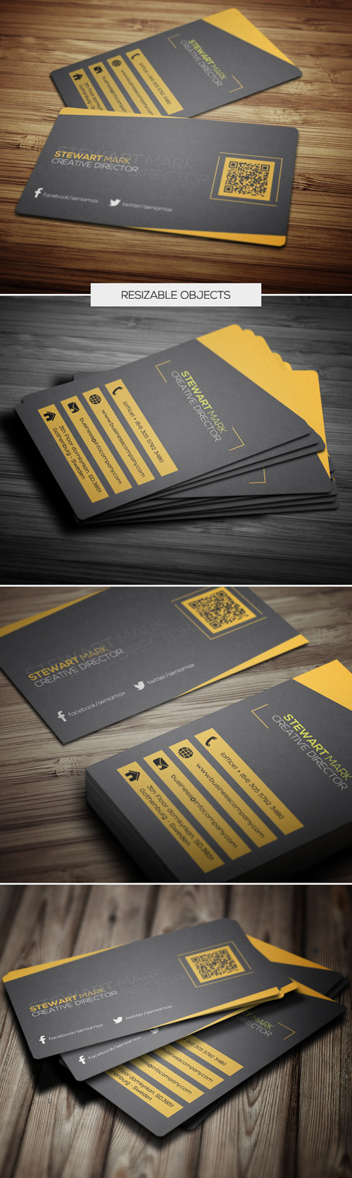 Creative Director Business Cards Design-5