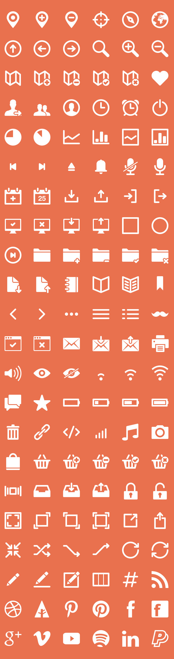 Free Vector Icons Pack Preview 2