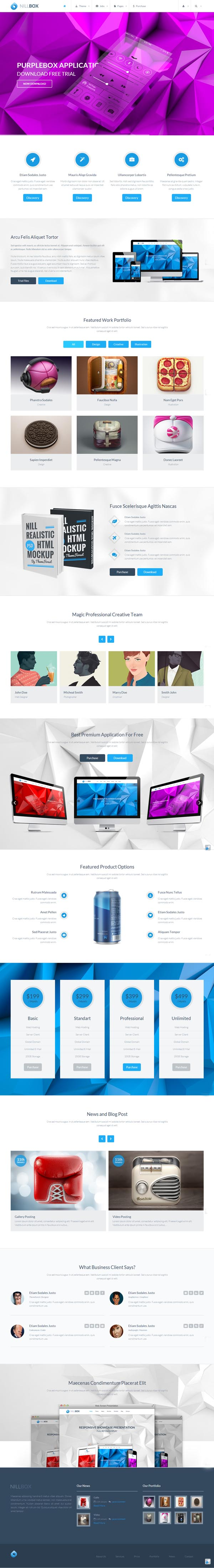 Nillbox - Business Corporate WordPress Theme