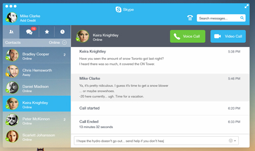 Skype Redesign UI Design Concepts to Boost User Experience