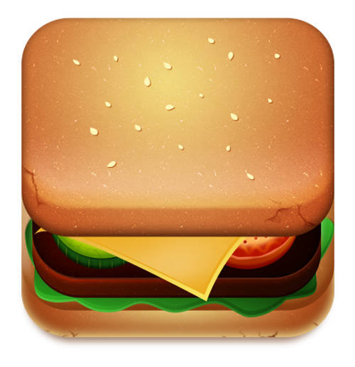 Burger IOS Icon Design