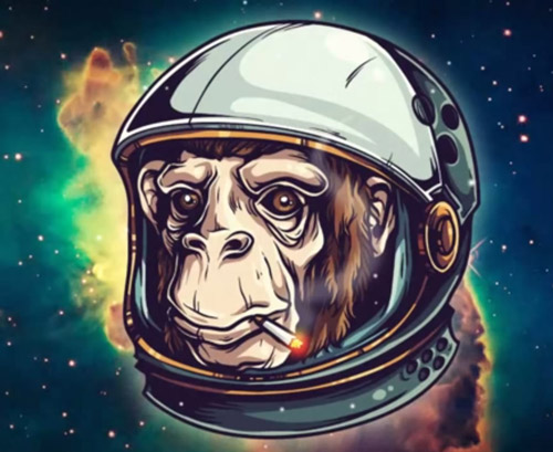 Create a Space Chimp Illustration Tutorial