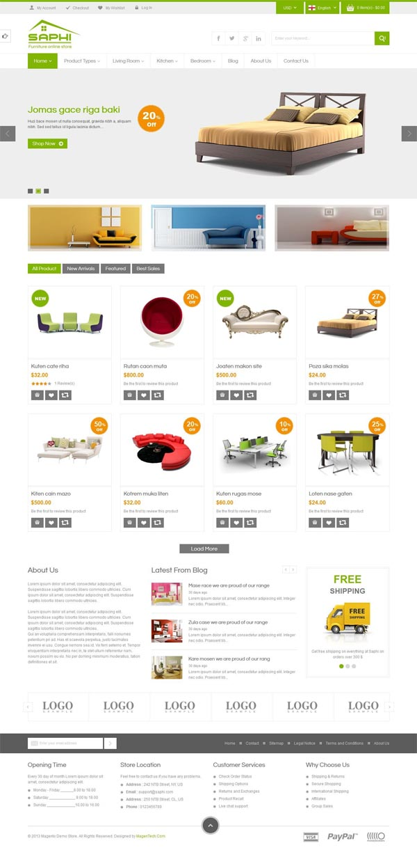 Magento Themes for Ecommerce Websites | Design | Graphic Design ...