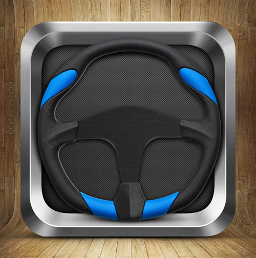Wheel icon for iOS concept