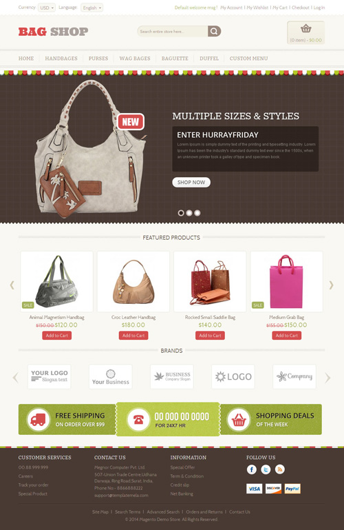 Bag Shop - Magento Responsive Template