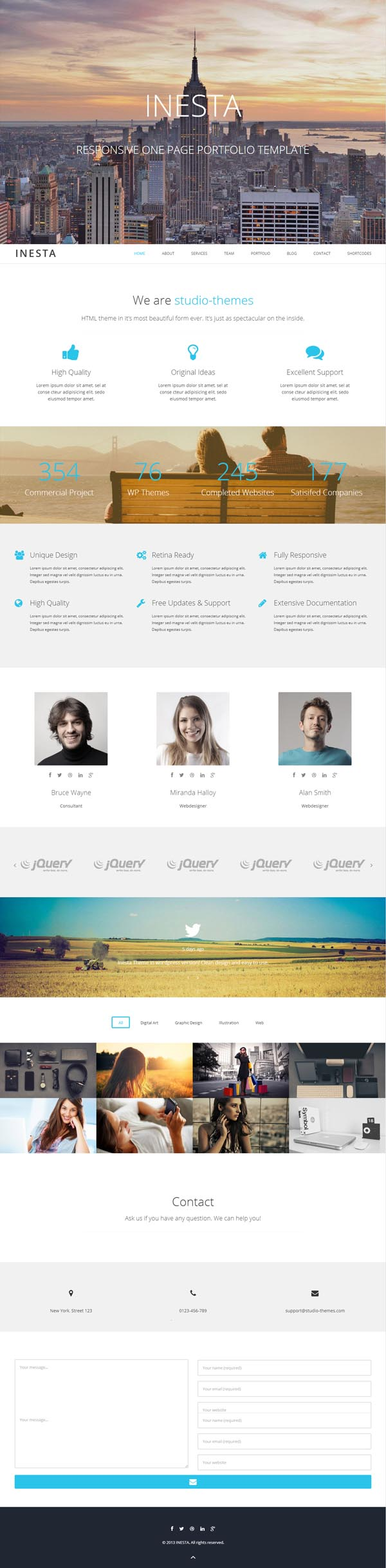 Inesta - Responsive One Page WordPress Theme