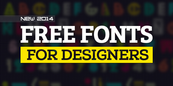 16 New Free Fonts in 2014