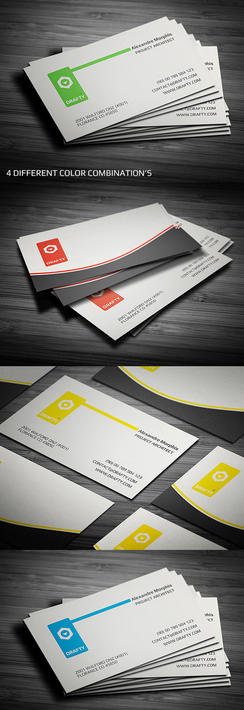 New corporate business card