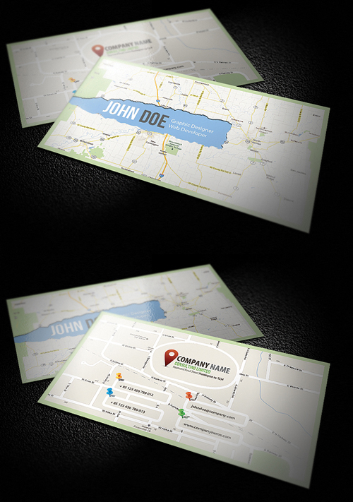 New corporate business cards design graphic design junction c map business card colourmoves
