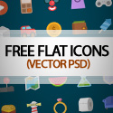 Post thumbnail of Colorful Flat Vector Icons – Free Download