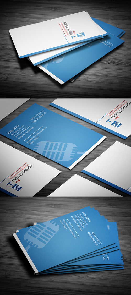 Designs of print ready business cards design graphic design junction sound clean corporate busines card colourmoves