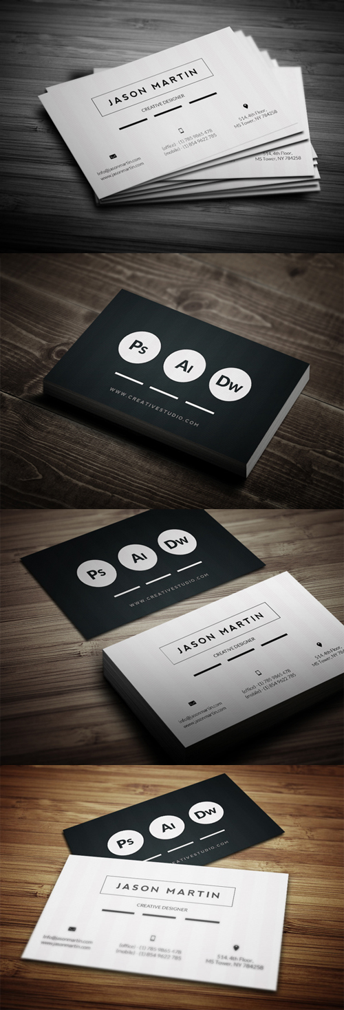 Super Flat Corporate Business Card