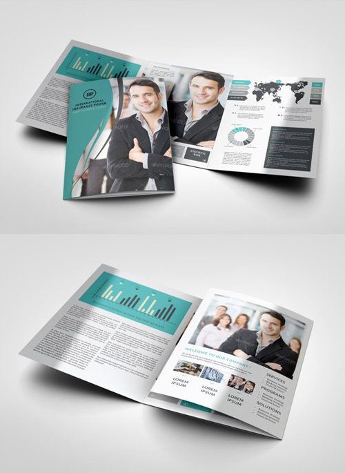 A4 Trifold Brochure Mock-Up