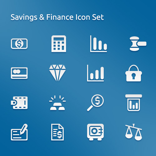 Saving And Finance Icons Set