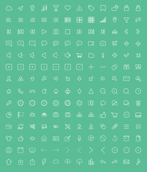 Outline Vector Icons Pack